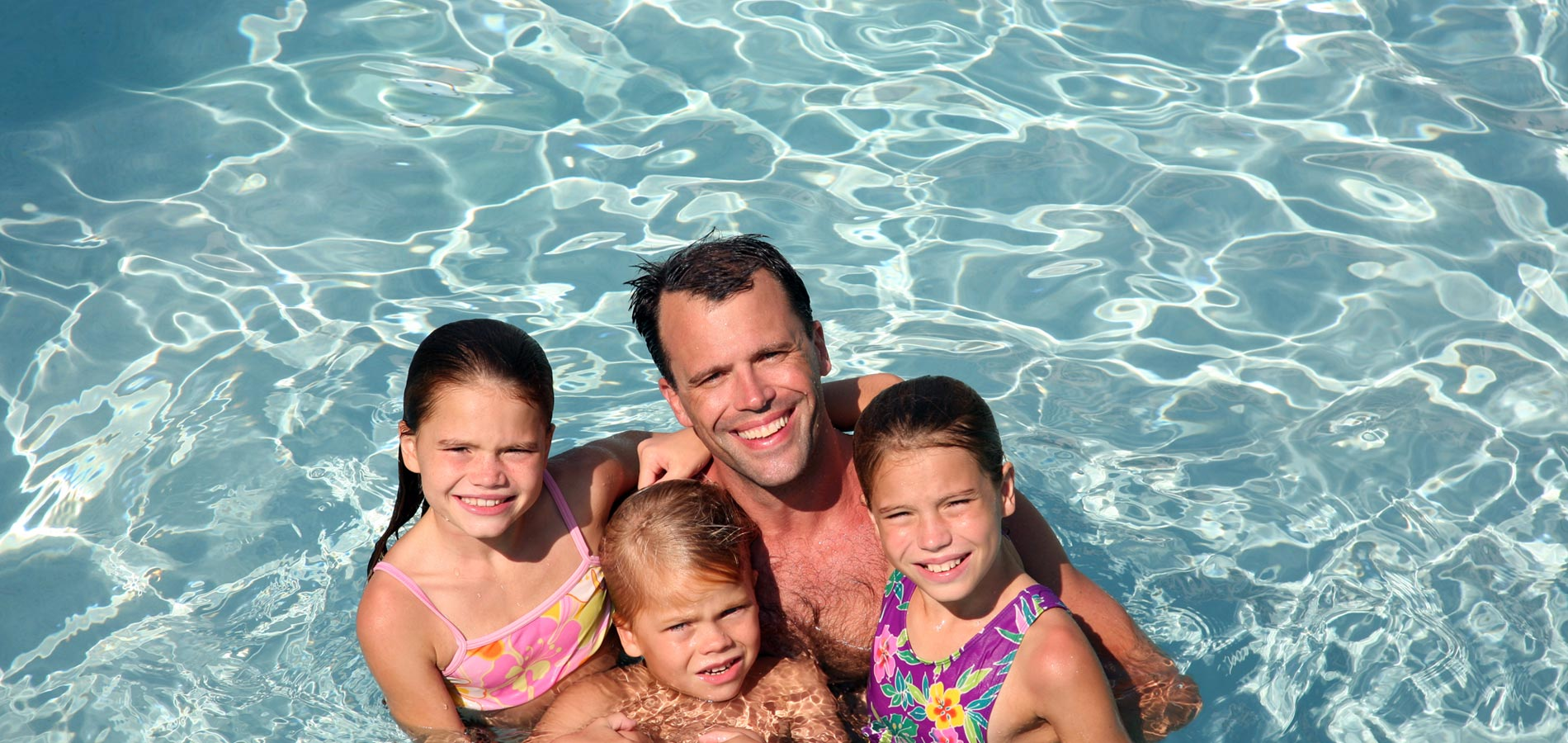 Family swimming at Noctaee